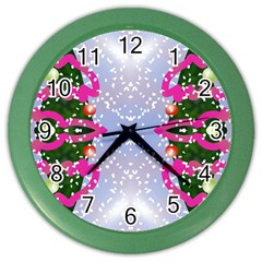 Seamless Tileable Pattern Design Color Wall Clocks by Celenk