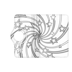 Star Christmas Pattern Texture Kindle Fire Hd (2013) Flip 360 Case by Celenk
