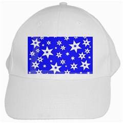 Star Background Pattern Advent White Cap by Celenk