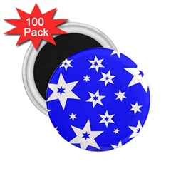 Star Background Pattern Advent 2 25  Magnets (100 Pack)  by Celenk