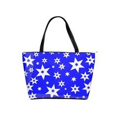 Star Background Pattern Advent Shoulder Handbags by Celenk