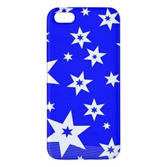 Star Background Pattern Advent Apple Iphone 5 Premium Hardshell Case by Celenk