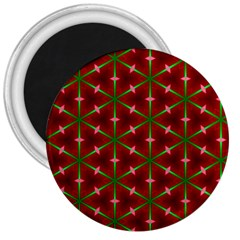 Textured Background Christmas Pattern 3  Magnets