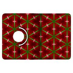 Textured Background Christmas Pattern Kindle Fire Hdx Flip 360 Case by Celenk