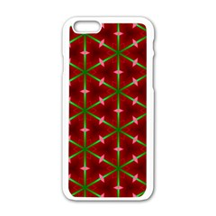 Textured Background Christmas Pattern Apple Iphone 6/6s White Enamel Case by Celenk