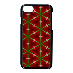 Textured Background Christmas Pattern Apple Iphone 8 Seamless Case (black) by Celenk