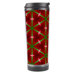 Textured Background Christmas Pattern Travel Tumbler by Celenk