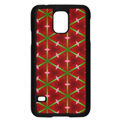 Textured Background Christmas Pattern Samsung Galaxy S5 Case (black)