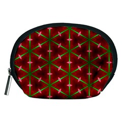 Textured Background Christmas Pattern Accessory Pouches (medium)  by Celenk