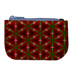 Textured Background Christmas Pattern Large Coin Purse