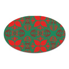 Christmas Background Oval Magnet by Celenk