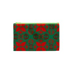 Christmas Background Cosmetic Bag (xs) by Celenk
