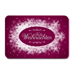 Christmas Card Red Snowflakes Plate Mats by Celenk