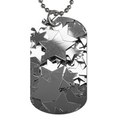 Background Celebration Christmas Dog Tag (one Side) by Celenk