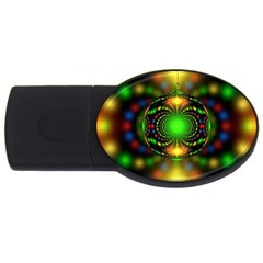 Christmas Ornament Fractal Usb Flash Drive Oval (2 Gb) by Celenk