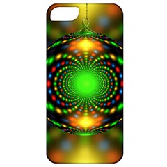 Christmas Ornament Fractal Apple Iphone 5 Classic Hardshell Case by Celenk