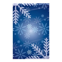 Snowflakes Background Blue Snowy Shower Curtain 48  X 72  (small)  by Celenk