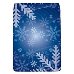 Snowflakes Background Blue Snowy Flap Covers (s)  by Celenk