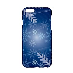 Snowflakes Background Blue Snowy Apple Iphone 6/6s Hardshell Case by Celenk