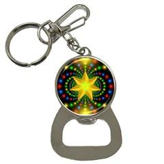 Christmas Star Fractal Symmetry Button Necklaces