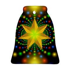 Christmas Star Fractal Symmetry Ornament (bell) by Celenk