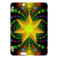 Christmas Star Fractal Symmetry Kindle Fire Hdx Hardshell Case by Celenk