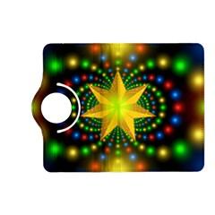 Christmas Star Fractal Symmetry Kindle Fire Hd (2013) Flip 360 Case by Celenk