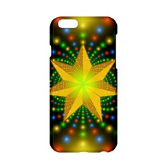 Christmas Star Fractal Symmetry Apple Iphone 6/6s Hardshell Case by Celenk