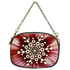 Background Star Red Abstract Chain Purses (two Sides)  by Celenk