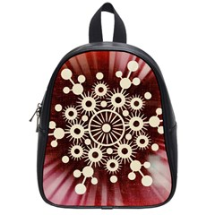 Background Star Red Abstract School Bag (small) by Celenk