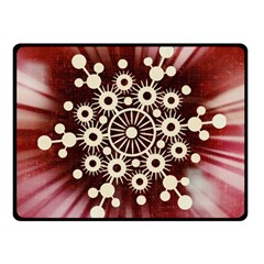 Background Star Red Abstract Fleece Blanket (small) by Celenk