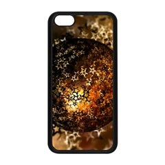 Christmas Bauble Ball About Star Apple Iphone 5c Seamless Case (black) by Celenk