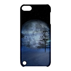 Winter Wintry Moon Christmas Snow Apple Ipod Touch 5 Hardshell Case With Stand by Celenk