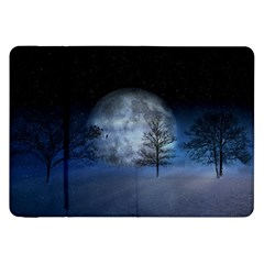 Winter Wintry Moon Christmas Snow Samsung Galaxy Tab 8 9  P7300 Flip Case by Celenk