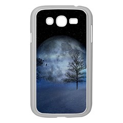 Winter Wintry Moon Christmas Snow Samsung Galaxy Grand Duos I9082 Case (white) by Celenk