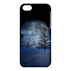 Winter Wintry Moon Christmas Snow Apple Iphone 5c Hardshell Case by Celenk