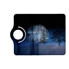 Winter Wintry Moon Christmas Snow Kindle Fire Hd (2013) Flip 360 Case by Celenk