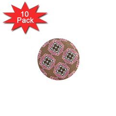 Pattern Texture Moroccan Print 1  Mini Magnet (10 Pack)  by Celenk