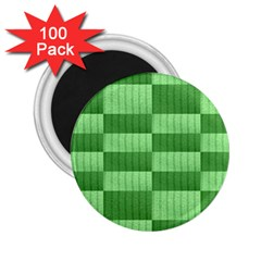 Wool Ribbed Texture Green Shades 2 25  Magnets (100 Pack)  by Celenk