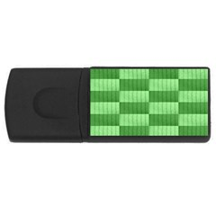 Wool Ribbed Texture Green Shades Rectangular Usb Flash Drive by Celenk