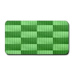 Wool Ribbed Texture Green Shades Medium Bar Mats by Celenk