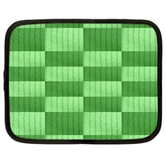 Wool Ribbed Texture Green Shades Netbook Case (large)