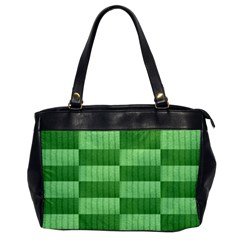 Wool Ribbed Texture Green Shades Office Handbags