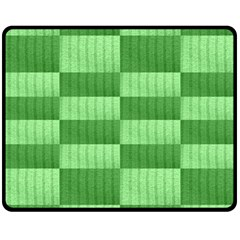 Wool Ribbed Texture Green Shades Fleece Blanket (medium)  by Celenk