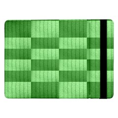 Wool Ribbed Texture Green Shades Samsung Galaxy Tab Pro 12 2  Flip Case by Celenk