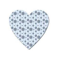 Snowflakes Winter Christmas Card Heart Magnet by Celenk