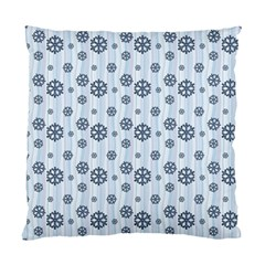 Snowflakes Winter Christmas Card Standard Cushion Case (one Side) by Celenk