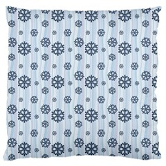 Snowflakes Winter Christmas Card Large Cushion Case (one Side) by Celenk