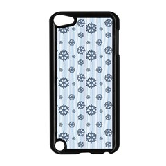 Snowflakes Winter Christmas Card Apple Ipod Touch 5 Case (black) by Celenk