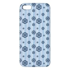 Snowflakes Winter Christmas Card Apple Iphone 5 Premium Hardshell Case by Celenk